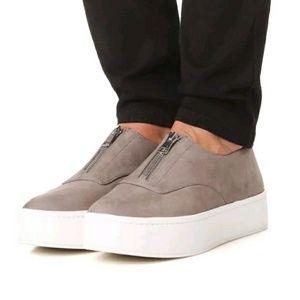 NEW! Vince Gray Nubuck Zipper Sneakers Size 7